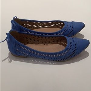 Royal blue Restricted flats